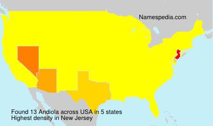 Familiennamen Andiola - USA