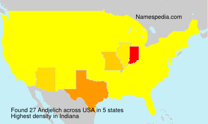 Surname Andjelich in USA