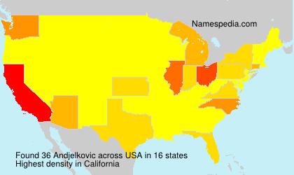 Surname Andjelkovic in USA
