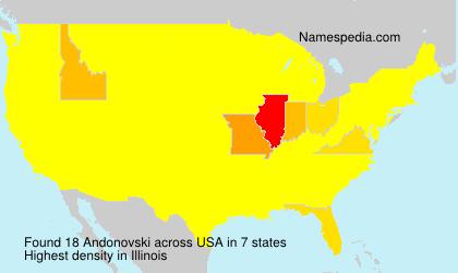 Surname Andonovski in USA