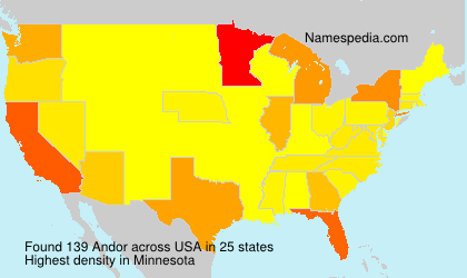 Surname Andor in USA