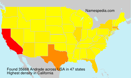 Surname Andrade in USA