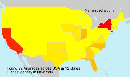 Familiennamen Andradez - USA