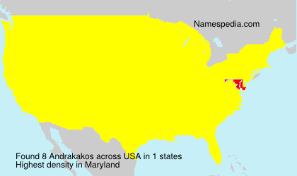 Surname Andrakakos in USA