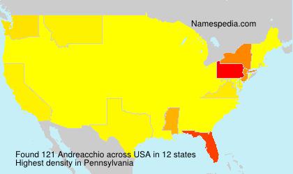 Surname Andreacchio in USA