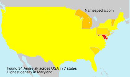 Surname Andrejak in USA