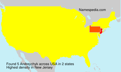 Surname Andreychyk in USA