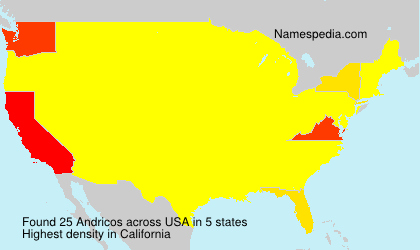 Surname Andricos in USA