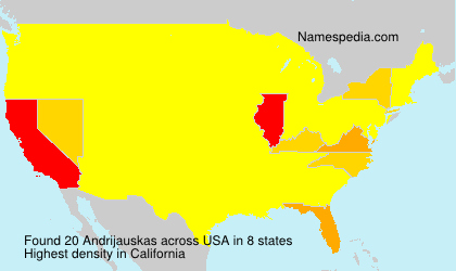 Surname Andrijauskas in USA