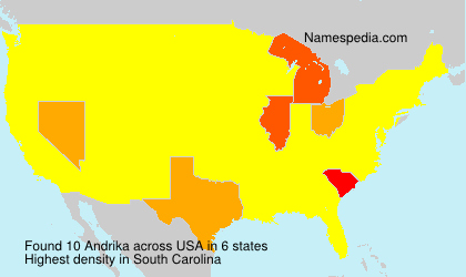 Surname Andrika in USA
