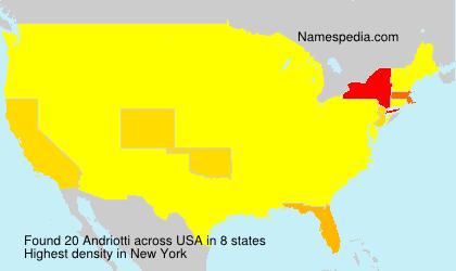 Familiennamen Andriotti - USA