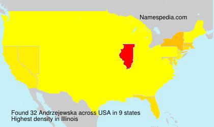 Surname Andrzejewska in USA