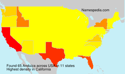Surname Anduiza in USA