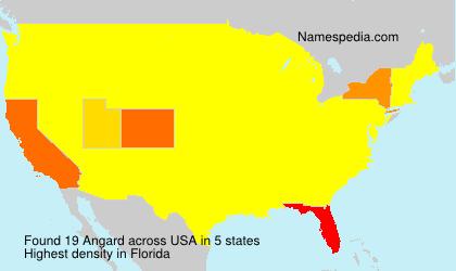 Surname Angard in USA