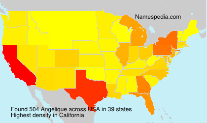 Surname Angelique in USA