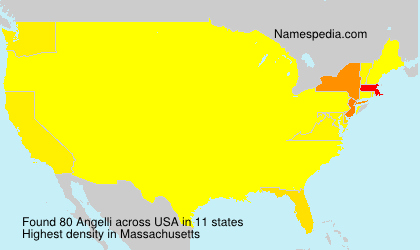 Familiennamen Angelli - USA