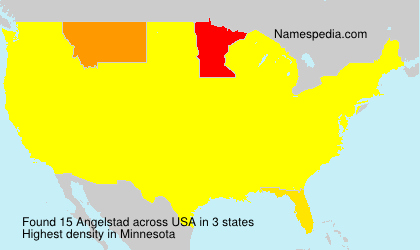 Surname Angelstad in USA