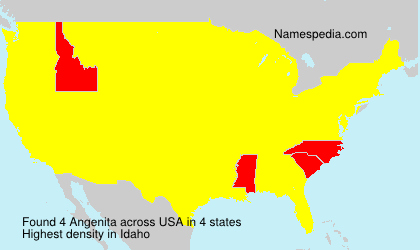 Surname Angenita in USA