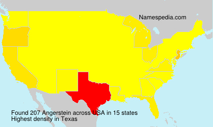 Surname Angerstein in USA