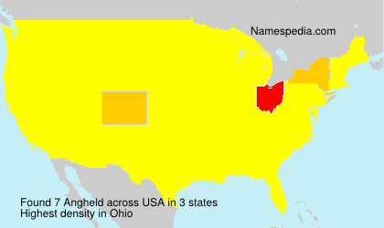 Surname Angheld in USA