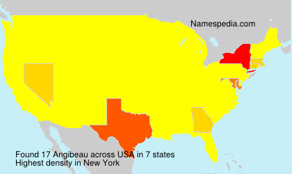 Surname Angibeau in USA