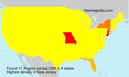 Surname Anglani in USA