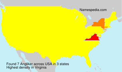 Surname Angliker in USA
