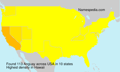 Surname Anguay in USA