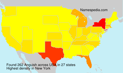 Surname Anguish in USA