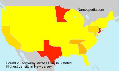 Familiennamen Angwenyi - USA