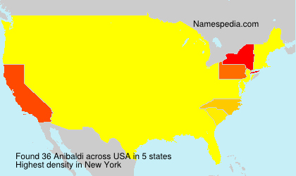 Surname Anibaldi in USA