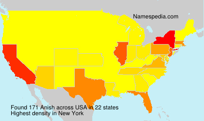 Surname Anish in USA