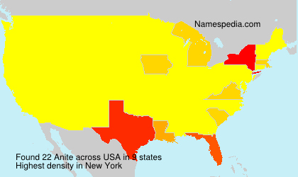 Surname Anite in USA
