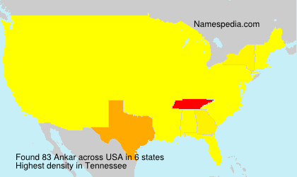 Surname Ankar in USA
