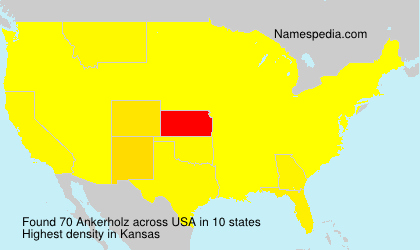 Surname Ankerholz in USA