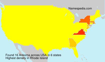Surname Ankoma in USA