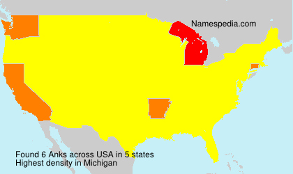 Surname Anks in USA