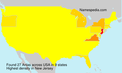 Surname Anlas in USA