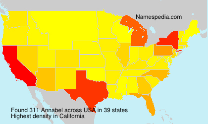 Surname Annabel in USA