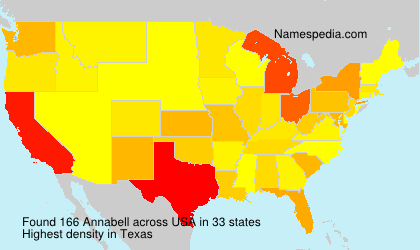 Surname Annabell in USA