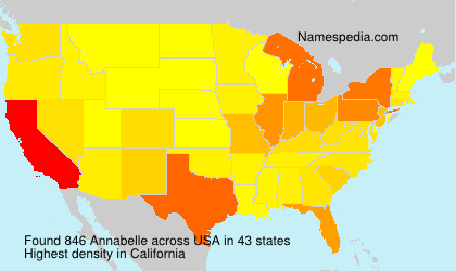 Surname Annabelle in USA