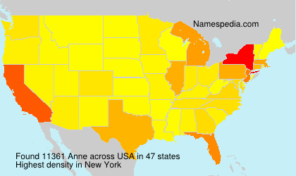 Surname Anne in USA