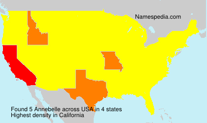 Surname Annebelle in USA