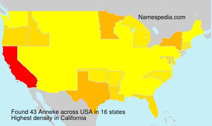 Familiennamen Anneke - USA