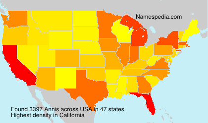 Surname Annis in USA