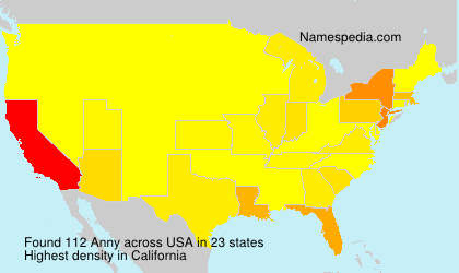 Surname Anny in USA