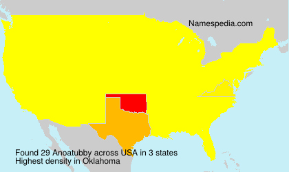 Surname Anoatubby in USA