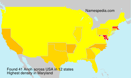 Surname Anoh in USA