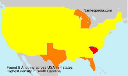 Surname Anothny in USA