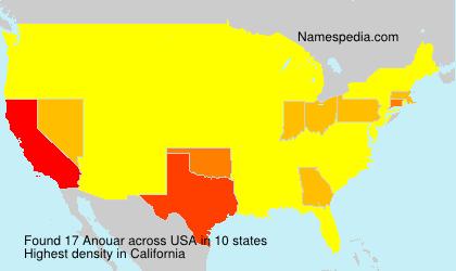 Familiennamen Anouar - USA
